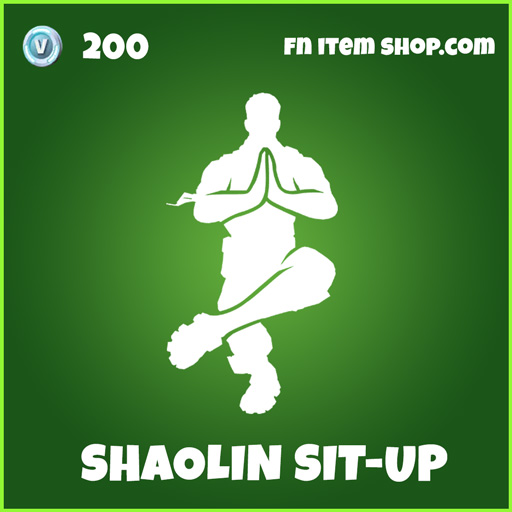 shaolin sit-up sit up uncommon fortnite emote