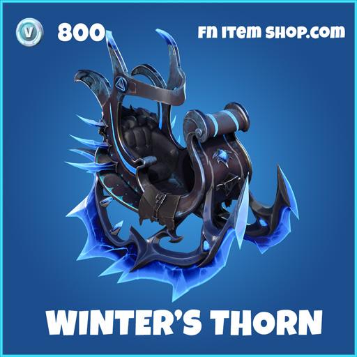 Winter's Winters Thorn rare fortnite glider