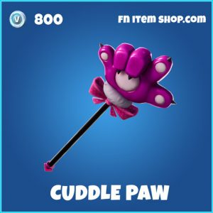 Cuddle paw rare fortnite pickaxe
