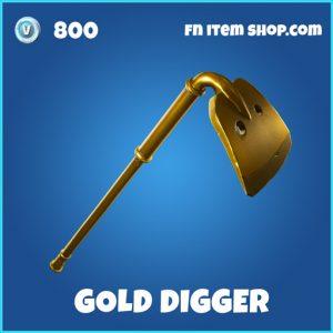 gold digger rare fortnite pickaxe