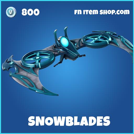 Snowblades rare fortnite glider