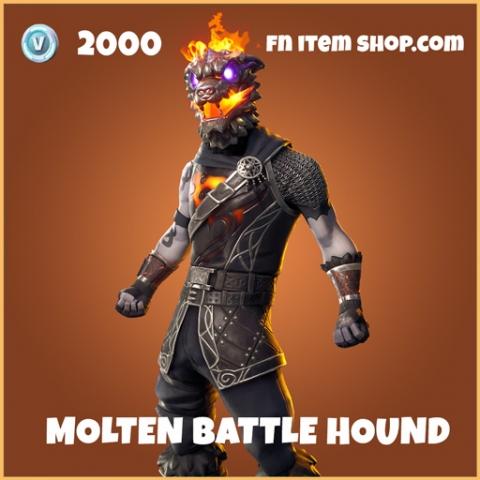 Molten Battle Hound legendary fortnite skin