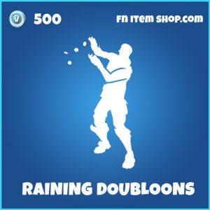 raining doubloons rare fortnite emote