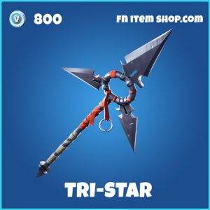 tri-star rare fortnite pickaxe