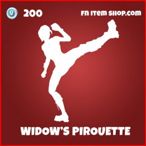 Widow's Pirouette avengers fortnite emote