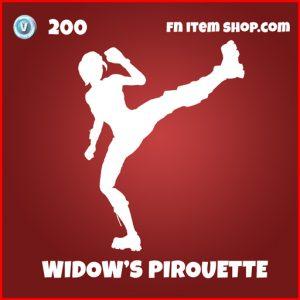 Widow's Pirouette avengers fortnite emote