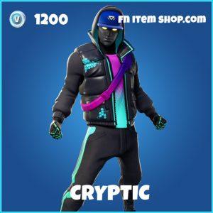 cryptic rare fortnite skin