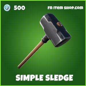 Simple sledge uncommon fortnite pickaxe