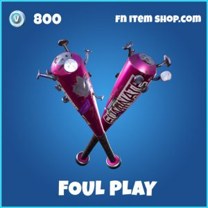 foul play rare fortnite pickaxe