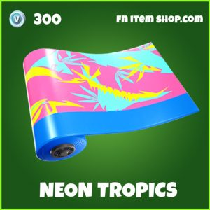Neon tropics uncommon fortnite wrap