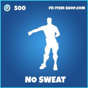 No Sweat rare fortnite emote