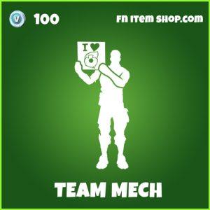 Team Mech uncommon fortnite emote