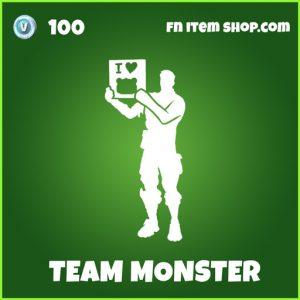 Team Monster uncommon fortnite emote