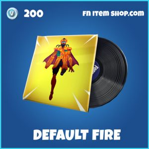 Default Fire rare music pack fortnite