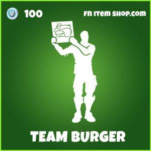 Team Burger uncommon fortnite emote