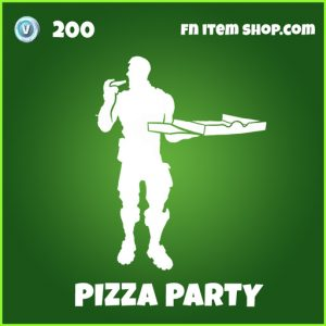Pizza Party uncommon fortnite emote