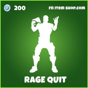 Rage quit uncommon fortnite emote