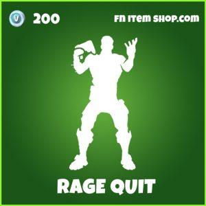 Rage quit uncommon fortnite emote