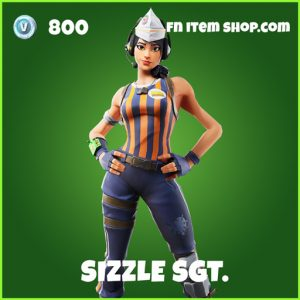 Sizzle Sgt. uncommon fortnite skin
