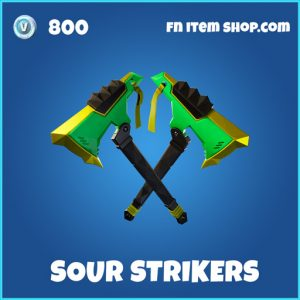 Sour Strikers rare fortnite pickaxe