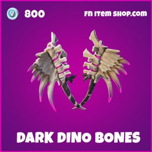 Dark Dino Bones rare fortnite pickaxe