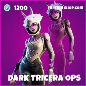 Dark Tricera Ops rare fortnite skin