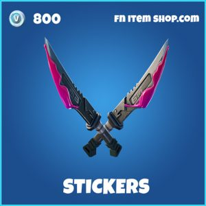 Stickers rare fortnite pickaxe