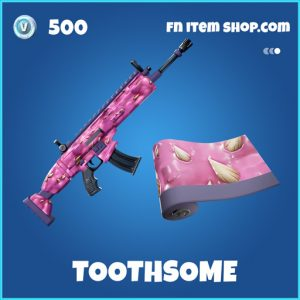 Toothsome rare fortnite wrap