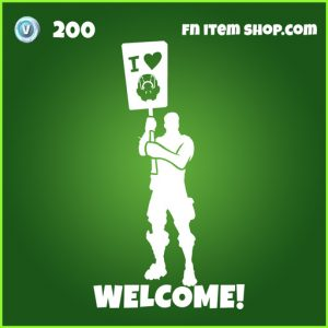 Welcome uncommon fortnite emote