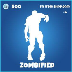 Zombified rare fortnite emote