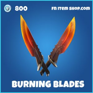 Burning Blades rare fortnite pickaxe