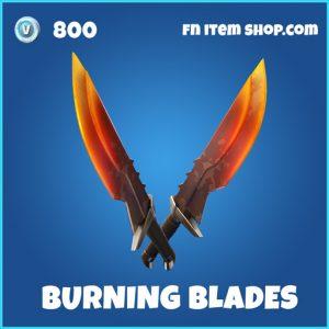 Burning Blades rare fortnite pickaxe