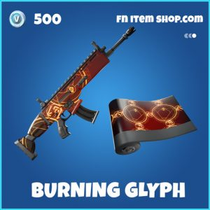 Burning Glyph rare fortnite wrap