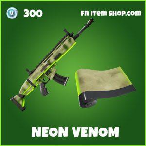 Neon Venom uncommon fortnite wrap