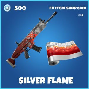 Silver Flame rare fortnite wrap