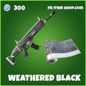 Weathered black uncommon fortnite wrap