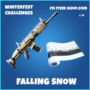 Falling Snow rare fortnite wrap