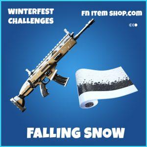 Falling Snow rare fortnite wrap