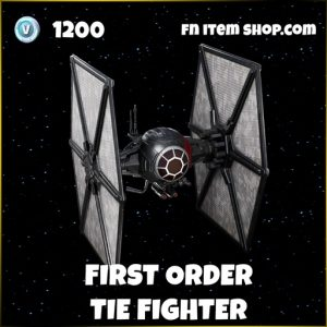 First order tie fighter star wars fortnite glider skin