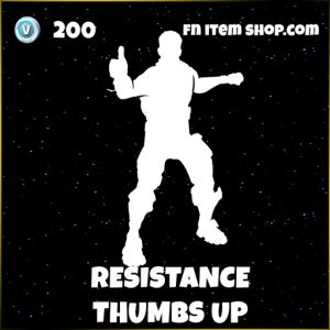 Resistance thumbs up fortnite stars emote
