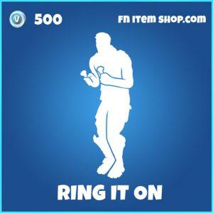 Ring it on rare fortnite emote