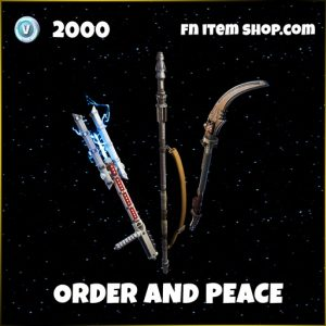 Order and peace pickaxe harvesting tool fortnite star wars bundle