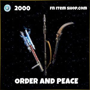 Order and peace pickaxe harvesting tool fortnite star wars bundle
