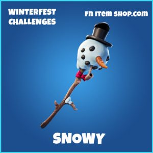 Snowy rare fortnite pickaxe