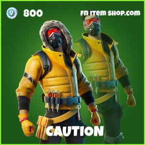 Caution uncommon fortnite skin