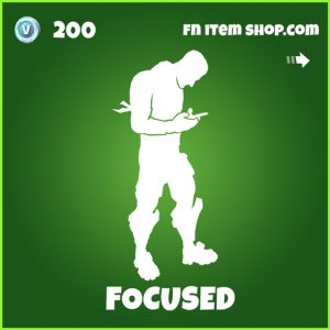 focused uncommmon fortnite emote