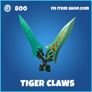 Tiger claws rare fortnite pickaxe