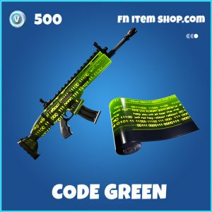 Code green rare fortnite wrap