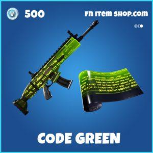 Code green rare fortnite wrap