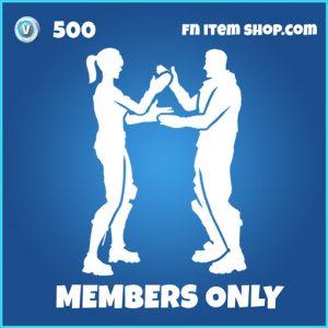 Members only rare fortnite emote